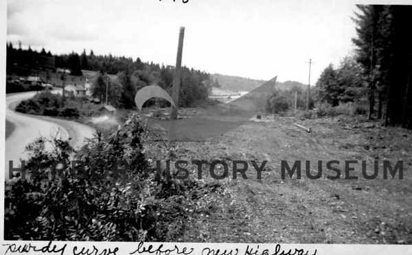 Purdy Curve before new highway