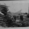 Lumber stacked at sawmill at Berg's Landing, Source:  George Uhlman