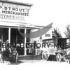 Source:  Marie Gustafson<br /> S.P. Strout General Merchandise, Groceries & Feed, with horse drawn delivery wagon. Located in Millville (Gig Harbor), along today's Harborview Drive