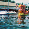 Harbor Holidays 1976; first prize winners - rafters with huge shoe.