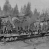 Crew on Gig Harbor Timber Co. Rail Car