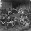 Bert Blake Logging Camp Crew on steps of Mess Hall