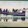 post card; return of the whale hunters; common dugout canoe design.  From Norman, Kimball.