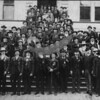 Source:  Beverly Dahl     <br /> Date:  Early 1900's     <br /> G.A.R. organizations - Meeting at Everson, WA.  All wearing pins and ribbons of organization.  Photo belonged to Mrs. Annie Dow Emerson, Whatcom County, WA.