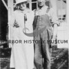 Esther and Richard Uhlman in front of their Berg's Landing store.  Source:  George Uhlman