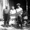 Source:  Lois E. Crandall     <br /> Date:  Unknown     <br /> Art Ward McIntyre, his wife Bertha Mollie Engle and son, Alfred McIntyre of Rosedale (Ella Morgan's mother, father and brother).  Picture taken at Mrs. McIntyre's brother's place in Wisconsin.
