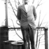 Source:  Unknown     <br /> Date:  1921 approx.<br /> Christy Scarponi at age 16 - at home on Harborview - GH.<br /> First suit at time of 1st fishing trip - given to him by Katy Skansie (Mrs. Peter)
