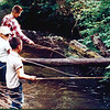 Boys fishing in Crescent Valley Creek.