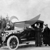 Mrs. Secor, Mrs. Pierce, Wortmn, Smith & Sella, old car.