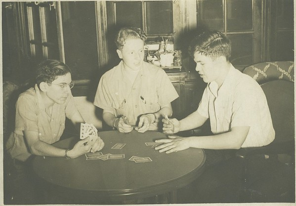 Marvin and Len play cards