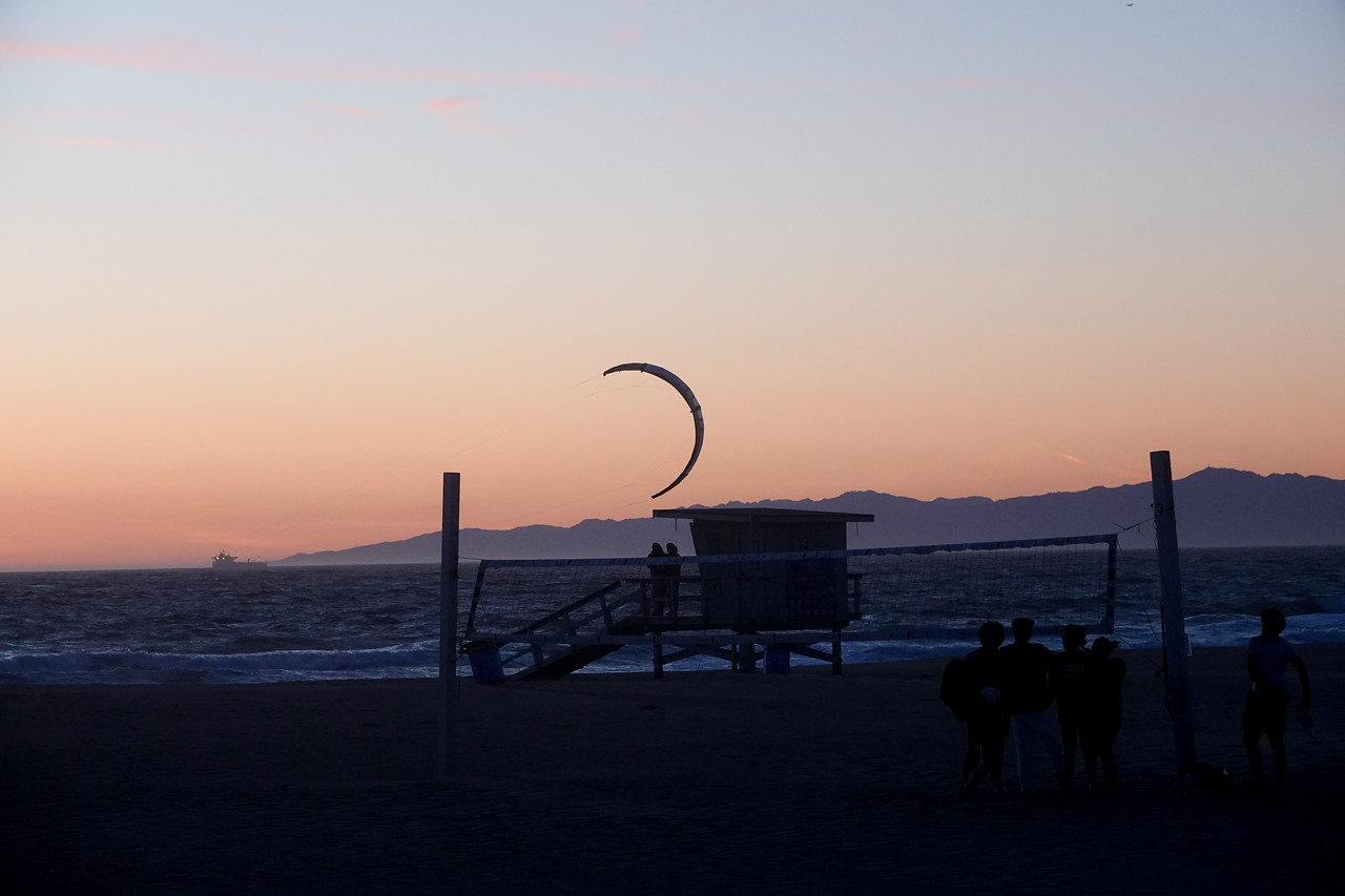 Just after sunset in Hermosa Beach