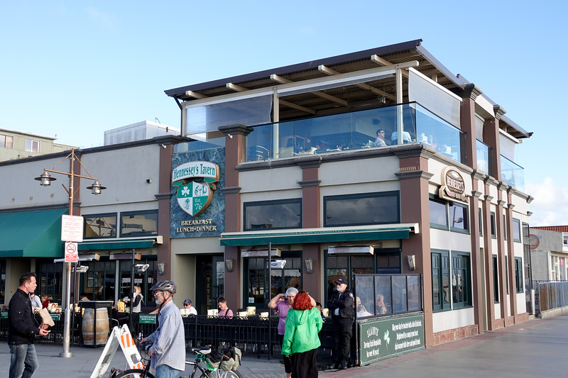 Hennessey's Tavern has a great third floor deck overlooking the South Bay in Hermosa Beach