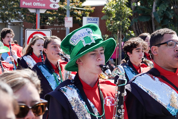 Marching in the Hermosa Beach St. Patrick's Day parade