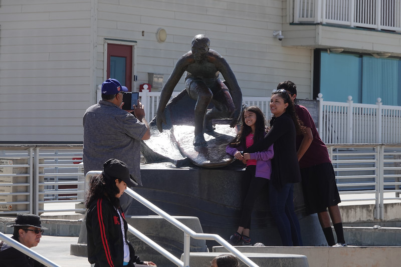The Surfg statue at the foot of the Hermosa Beach Pier is one of the most popular Selfie spots