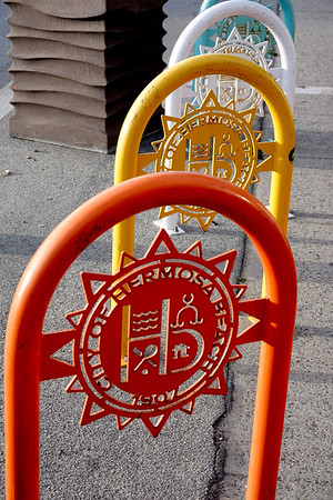 City of Hermosa Beach colorful bike racks