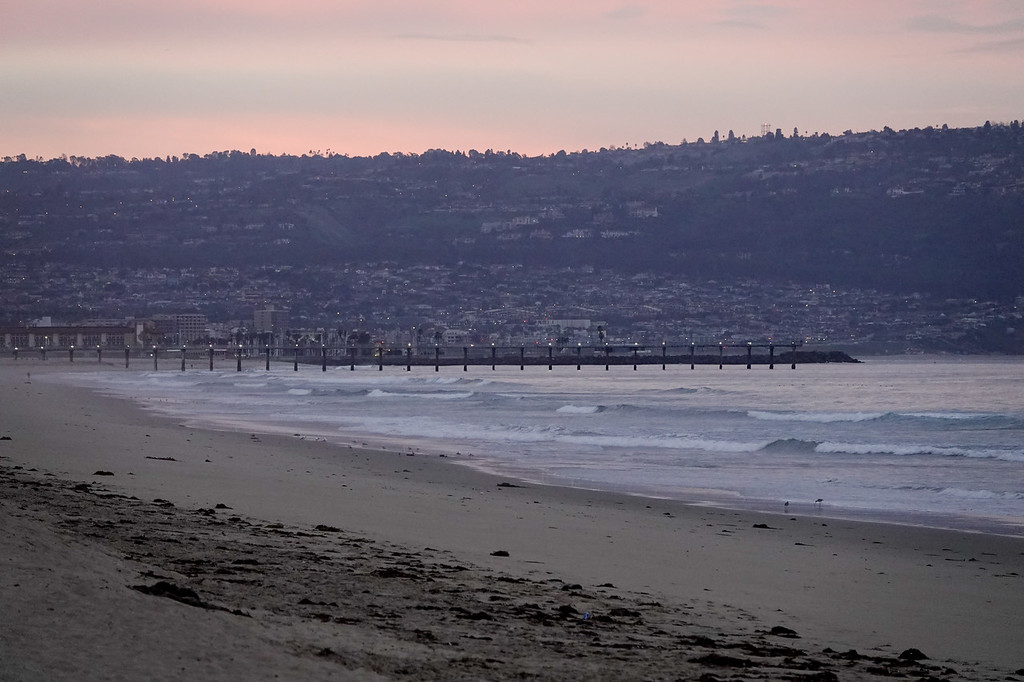 The Hermosa Beach Pier, as seen from Manhattan Beach