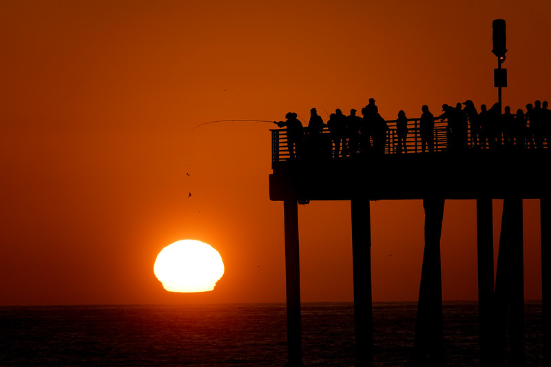 Hermosa Beach Pier @sunset