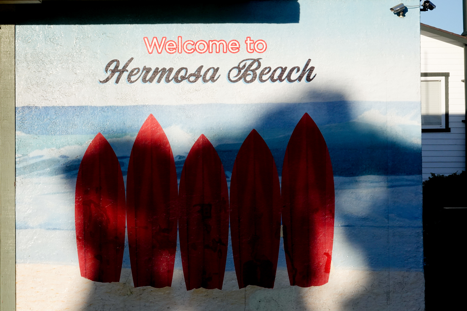 A local liqour store welcomes folks to Hermosa Beach