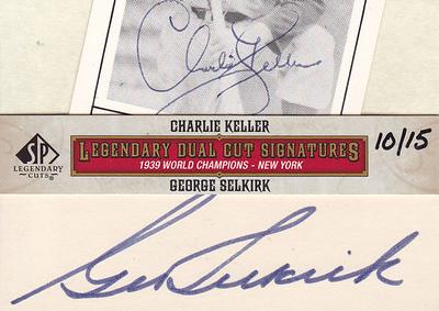 2011 SP Legendary Cuts Charlie Keller & George Selkirk