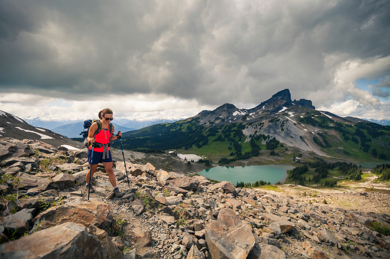 hiking in Garibaldi Provincial Park, British Columbia, Canada.