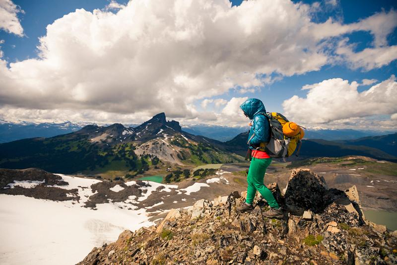 hiking on Panorama Ridge in Garibaldi Provincial Park, British Columbia, Canada.