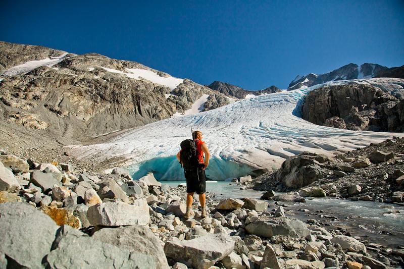 Backpacking in Garibaldi Provincial Park, Canada.