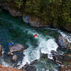 Packrafting the Chehalis River, British Columbia, Canada.