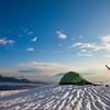 Winter camping in British Columbia, Canada.