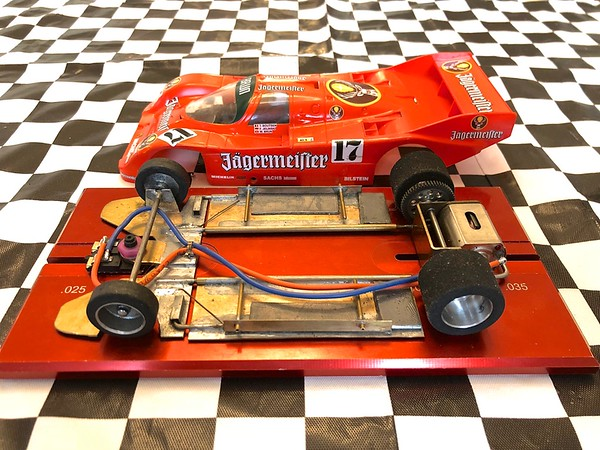 """Porsche 962 """"rear motor"""" chassis. This car won the 2017 D3 Hardbody GTP Nats race (driven by Victor Dubrowsky). Chassis was designed/built by Keith Tanaka."""