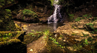 Hareshaw Linn Waterfall.