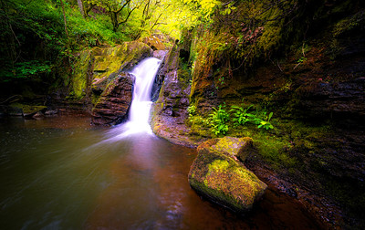 Small waterfall on the way.