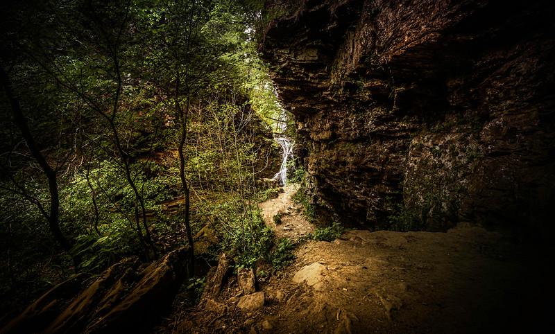 Entering the waterfalls canyon