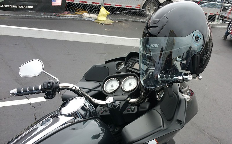 Item 1002-C on a 2014 Road Glide with Kuryakyn ISO grips.