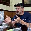 American Harley Davidson in Leominster on Central Street is celebrating their 40th year in business in 2016. Owner of the shop Phil Desmarais <br /> Talks about the history of the shop as he sits in his office on Thursday. SENTINEL & ENTERPRISE/JOHN LOVE