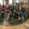 American Harley Davidson in Leominster on Central Street is celebrating their 40th year in business in 2016. This is a picture of many of the staff, on the show room floor, that helps them stay in operations. SENTINEL & ENTERPRISE/JOHN LOVE