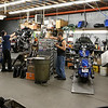 American Harley Davidson in Leominster on Central Street is celebrating their 40th year in business in 2016. A couple of motorcycles were being worked on in the shops service area on Thursday. SENTINEL & ENTERPRISE/JOHN LOVE