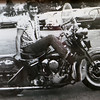 American Harley Davidson in Leominster on Central Street is celebrating their 40th year in business in 2016. This old black and white photo is the owner Phil Desmarais on a 1947 Knucklehead Harley Davidson he bought in 1967. SENTINEL & ENTERPRISE/JOHN LOVE