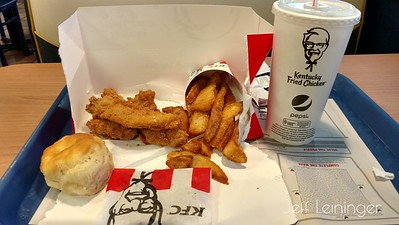 I hadn't been to KFC in awhile, and since I missed lunch today, I figured why not?