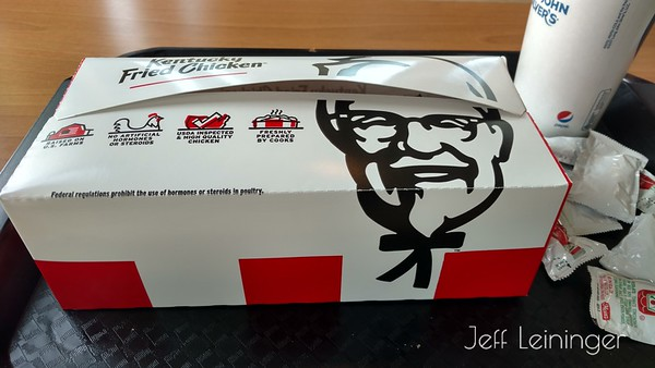 I didn't have breakfast, so KFC for lunch seemed to make sense.
