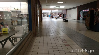 I've never seen a shopping mall so empty......while open.