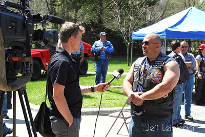 Jason giving an interview to wifr 23 news.