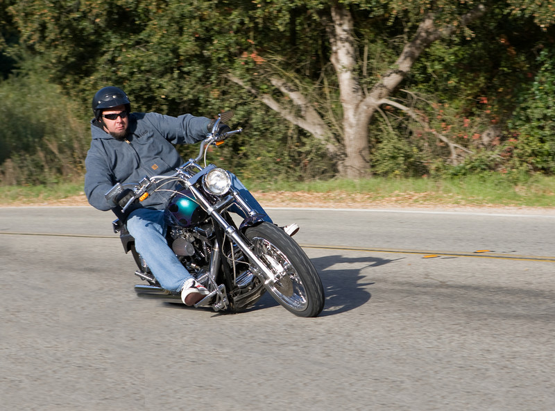 My Son David riding the FXDL Lowrider