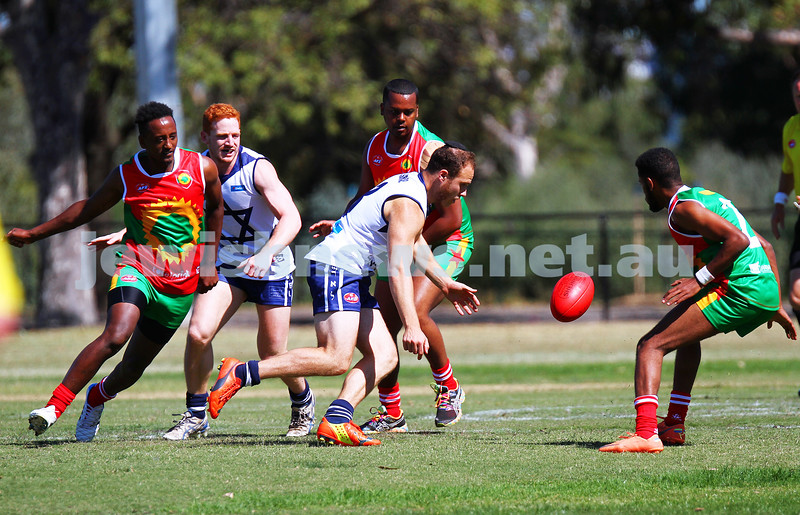 29-3-15. AFL Harmony Cup 2015. Mcalister Oval, Parkville. Zev Aron. Photo: Peter Haskin