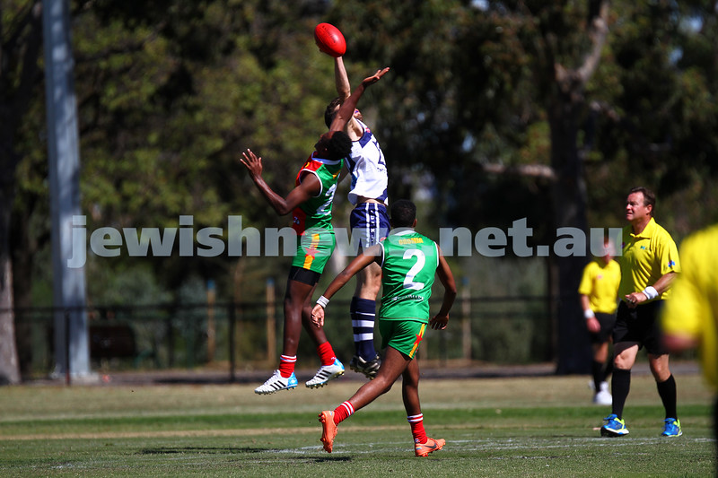 29-3-15. AFL Harmony Cup 2015. Mcalister Oval, Parkville. Photo: Peter Haskin