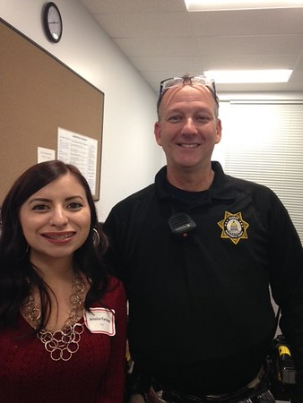 SCCY members, enjoying the event. Jessica Fielding and Deputy Mike Saigeon
