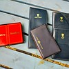 Kronenbourg playing cards, Harp diary leather cover, various leather pocket notepads with pens