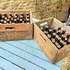 Two wooden Courage Barclay Simonds crates containing Imperial Russian Stout in bottles (46 bottles in total)