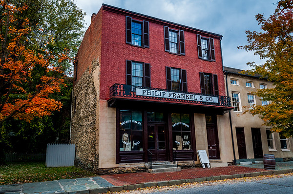 Clothing store along Shenandoah Street, Harpers Ferry, West Virginia