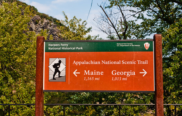 Appalachian Trail Sign, Harpers Ferry, WVA