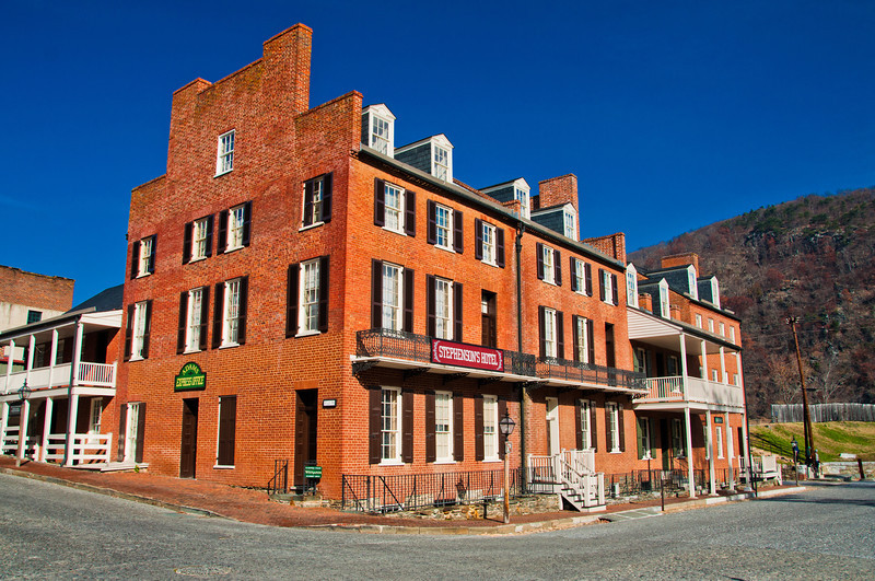 View of Stephenson's Hotel, Harper's Ferry, West Virginia
